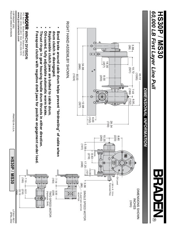 HS30P/MS30 Specification Sheet