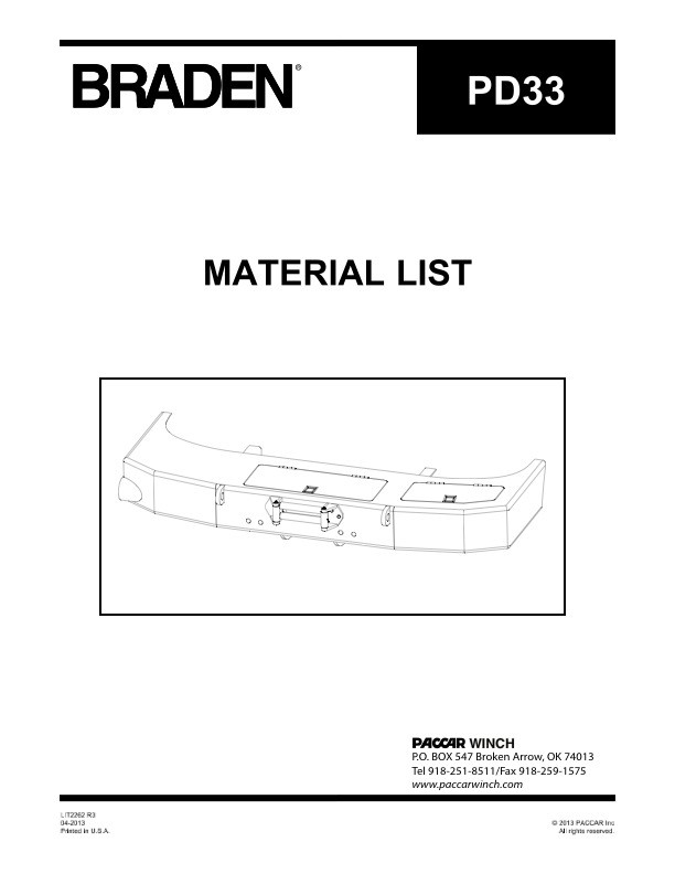 PD33 Material List