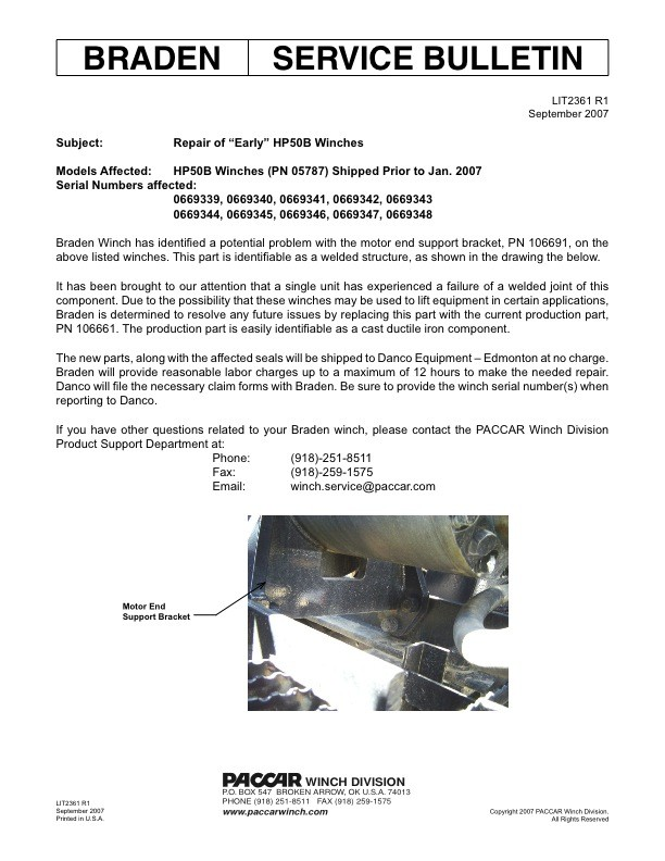 """Repair of """"Early"""" HP50B Winches"""