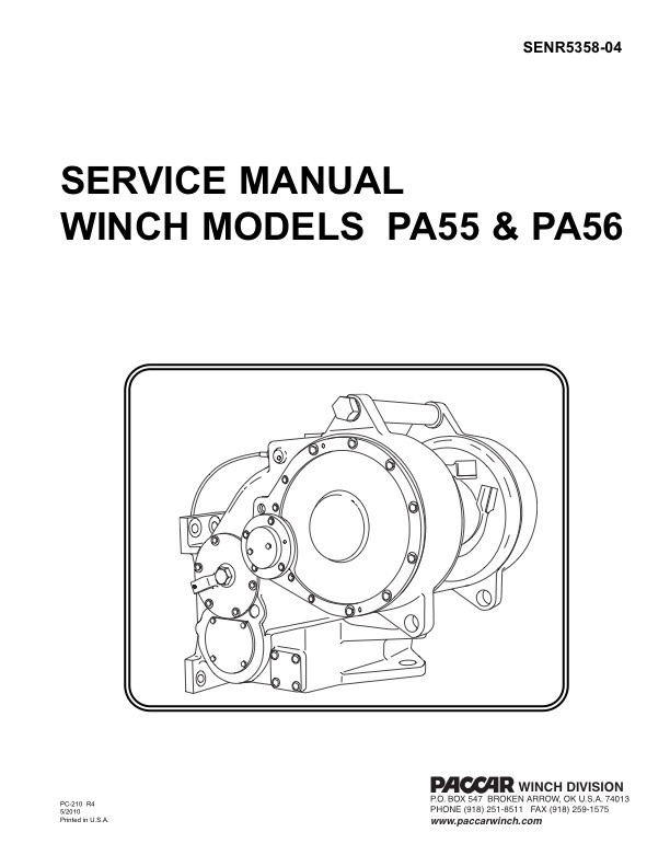 PA55 & PA56 for CAT Service Manual