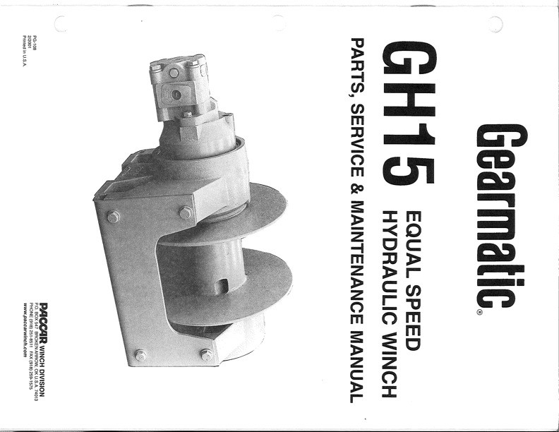 GH15 Service Manual - Equal Speed