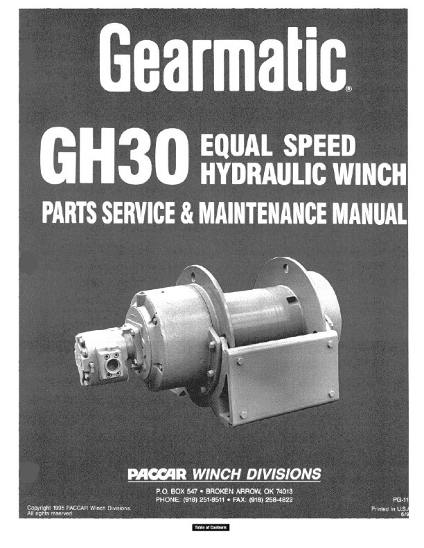 GH30 Service Manual - Equal Speed