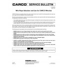 Wire Rope Selection & Use for Carco Winches