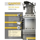 CARCO - SB18A Hoist, 18,000lbs (8,165kg) - Sales Specification Sheet