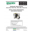 Braden - Hydraulic Hoist Series PD10-75B, PD10-77B, PD15-75B, PD15-77B - Installation Maintenance and Service Manual