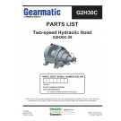 Gearmatic - G2H30C-28 - Two-speed Hydraulic Hoist - Parts List