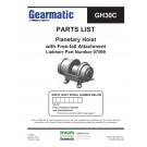 Gearmatic - GH30C Parts List - Planetary Hoist with Free-fall Attachment Liebherr Part Number 07599