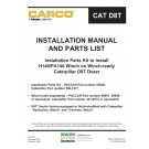 Carco - Installation Parts Kit to Install H140/PA140 Winch on Winch-ready Caterpillar D8T Dozer - Installation Manual and Parts List