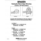Hydraulic Worm Gear Winches Specifications Sheet